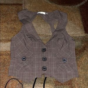 Guess Plaid Vest